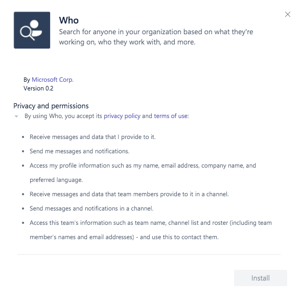 Microsoft Teams new Who bot is available in preview