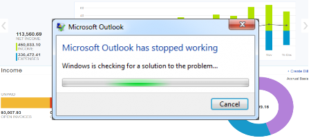 Outlook desktop client not responding