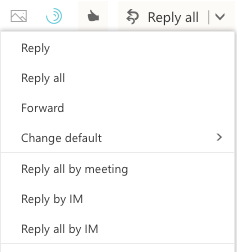 Outlook browser client reply to all by IM feature