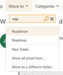 Outlook browser client move to feature