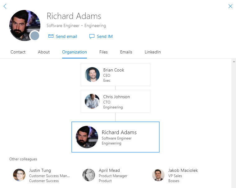 Get the most out of your organizational charts in Office 365